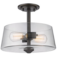 Z-Lite 428SF2-OB Annora 2 Light 12 inch Olde Bronze Semi Flush Mount Ceiling Light