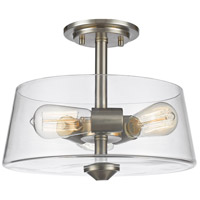 Annora 3 Light 14 inch Brushed Nickel Semi Flush Mount Ceiling Light