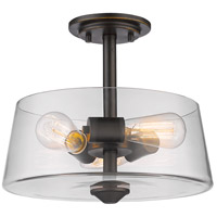 Z-Lite 428SF3-OB Annora 3 Light 14 inch Olde Bronze Semi Flush Mount Ceiling Light