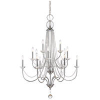 Serenade 15 Light 36 inch Chrome Chandelier Ceiling Light