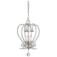 Z-Lite Serenade 3 Light Mini Chandelier in Brushed Nickel 429-3-BN
