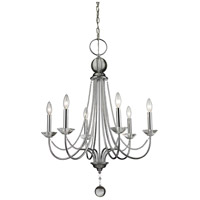 Z-Lite 429-6-CH Serenade 6 Light 26 inch Chrome Chandelier Ceiling Light