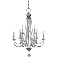 Z-Lite 429-9-CH Serenade 9 Light 29 inch Chrome Chandelier Ceiling Light