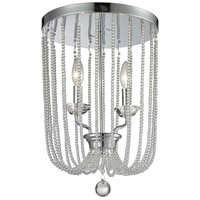 Z-Lite Serenade 2 Light Flush Mount in Chrome 429F12-CH
