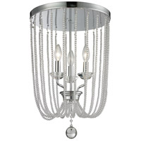 Serenade 3 Light 14 inch Chrome Flush Mount Ceiling Light