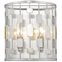 Z-Lite 430-2S-BN Almet 2 Light 9 inch Brushed Nickel Wall Sconce Wall Light