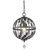 Z-Lite 430B12-BRZ Almet 1 Light 12 inch Bronze Pendant Ceiling Light