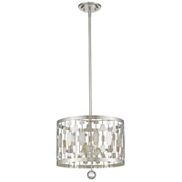 Z-Lite 430D15-BN Almet 3 Light 15 inch Brushed Nickel Pendant Ceiling Light