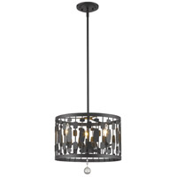 Z-Lite 430D15-BRZ Almet 3 Light 15 inch Bronze Pendant Ceiling Light