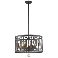 Z-Lite 430D20-BRZ Almet 5 Light 20 inch Bronze Pendant Ceiling Light