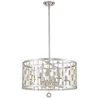 Z-Lite 430D24-BN Almet 6 Light 24 inch Brushed Nickel Pendant Ceiling Light