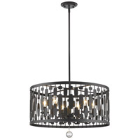 Z-Lite 430D24-BRZ Almet 6 Light 24 inch Bronze Pendant Ceiling Light