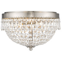 Z-Lite 431F3-BN Danza 3 Light 13 inch Brushed Nickel Flush Mount Ceiling Light