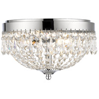 Z-Lite 431F3-CH Danza 3 Light 13 inch Chrome Flush Mount Ceiling Light