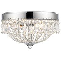 Z-Lite 431F3-CH Danza 3 Light 13 inch Chrome Flush Mount Ceiling Light