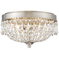 Danza 4 Light 15 inch Brushed Nickel Flush Mount Ceiling Light
