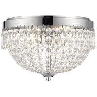 Danza 4 Light 15 inch Chrome Flush Mount Ceiling Light