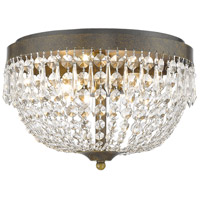 Danza 4 Light 15 inch Golden Bronze Flush Mount Ceiling Light