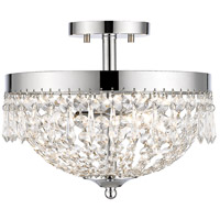 Danza 3 Light 13 inch Chrome Semi Flush Mount Ceiling Light