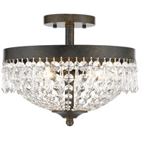 Z-Lite Danza 3 Light Semi Flush Mount in Golden Bronze 431SF3-GB