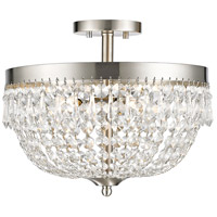Danza 4 Light 15 inch Brushed Nickel Semi Flush Mount Ceiling Light