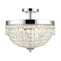 Danza 4 Light 15 inch Chrome Semi Flush Mount Ceiling Light