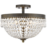 Danza 4 Light 15 inch Golden Bronze Semi Flush Mount Ceiling Light