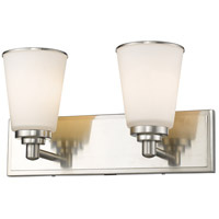 Z-Lite Jarra 2 Light Vanity Light in Brushed Nickel 432-2V-BN