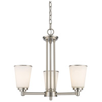 Z-Lite Jarra 3 Light Chandelier in Brushed Nickel 432-3BN