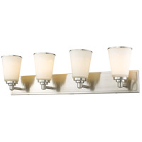 Z-Lite Jarra 4 Light Vanity Light in Brushed Nickel 432-4V-BN
