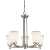 Z-Lite Jarra 5 Light Chandelier in Brushed Nickel 432-5BN