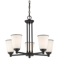 Z-Lite Jarra 5 Light Chandelier in Bronze 432-5BRZ
