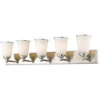 Z-Lite 432-5V-BN Jarra 5 Light 39 inch Brushed Nickel Vanity Wall Light