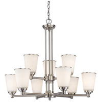 Z-Lite Jarra 9 Light Chandelier in Brushed Nickel 432-9BN