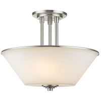 Z-Lite Jarra 3 Light Semi Flush Mount in Brushed Nickel 432SF-BN