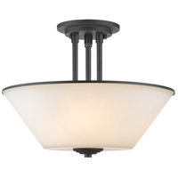 Z-Lite Jarra 3 Light Semi Flush Mount in Bronze 432SF-BRZ