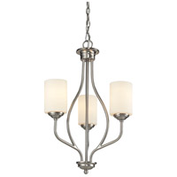 Z-Lite 434-3-BN Cardinal 3 Light 14 inch Brushed Nickel Chandelier Ceiling Light