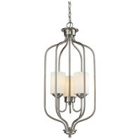 Z-Lite Cardinal 3 Light Pendant in Brushed Nickel 434-31-BN