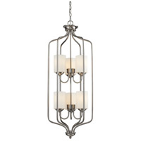 Cardinal 6 Light 15 inch Brushed Nickel Pendant Ceiling Light