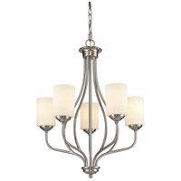Cardinal 5 Light 23 inch Brushed Nickel Chandelier Ceiling Light