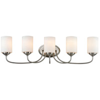 Z-Lite Cardinal 5 Light Vanity Light in Brushed Nickel 434-5V-BN