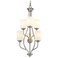Cardinal 6 Light 18 inch Brushed Nickel Chandelier Ceiling Light