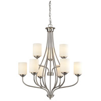Cardinal 9 Light 30 inch Brushed Nickel Chandelier Ceiling Light