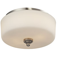 Z-Lite 434-F2-BN Cardinal 2 Light 12 inch Brushed Nickel Flush Mount Ceiling Light