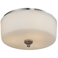 Z-Lite 434-F3-BN Cardinal 3 Light 13 inch Brushed Nickel Flush Mount Ceiling Light