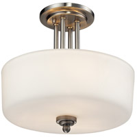 Z-Lite 434-SF-BN Cardinal 3 Light 13 inch Brushed Nickel Semi Flush Mount Ceiling Light