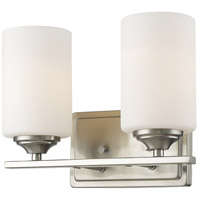 Z-Lite 435-2V-BN Bordeaux 2 Light 11 inch Brushed Nickel Vanity Wall Light