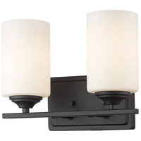 Z-Lite 435-2V-BRZ Bordeaux 2 Light 11 inch Bronze Vanity Wall Light