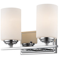 Z-Lite 435-2V-CH Bordeaux 2 Light 11 inch Chrome Vanity Wall Light