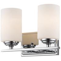 Z-Lite 435-2V-CH Bordeaux 2 Light 11 inch Chrome Vanity Light Wall Light